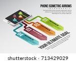 vector illustration of phone... | Shutterstock .eps vector #713429029