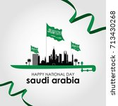 saudi arabia national day.... | Shutterstock .eps vector #713430268
