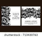 vintage delicate invitation...   Shutterstock . vector #713430763