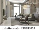 3d rendering luxury and modern... | Shutterstock . vector #713430814
