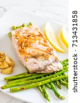 Small photo of grilled snapper fish steak with vagetable