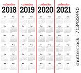 year 2018 2019 2020 2021... | Shutterstock .eps vector #713433490