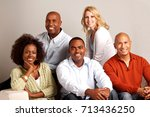 diverse group of people | Shutterstock . vector #713436250