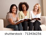 diverse group of woman in a... | Shutterstock . vector #713436256