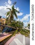 usa. florida. miami beach ... | Shutterstock . vector #713436850