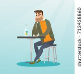 caucasian man sitting in the... | Shutterstock .eps vector #713438860