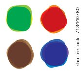set of water color  circle... | Shutterstock .eps vector #713440780