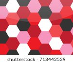 colorful honeycomb vector... | Shutterstock .eps vector #713442529
