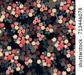 vintage feedsack pattern in... | Shutterstock . vector #713446078