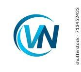 initial letter vn logotype... | Shutterstock .eps vector #713452423