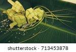 ketupat  rice dumpling  and... | Shutterstock . vector #713453878