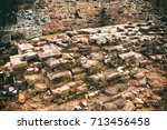 Small photo of Ruins of buildings is wane and decay