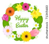 wreath from various colours and ... | Shutterstock . vector #71345683