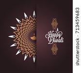 happy diwali vintage card... | Shutterstock .eps vector #713459683