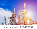 industrial zone the equipment... | Shutterstock . vector #713459854