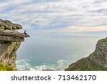 woman on top of table mountain  ... | Shutterstock . vector #713462170