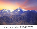 close up of himalayas mountains ... | Shutterstock . vector #713462578