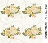 seamless floral pattern with... | Shutterstock .eps vector #713463550