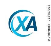 initial letter xa logotype...   Shutterstock .eps vector #713467018