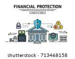 flat line vector editable...   Shutterstock .eps vector #713468158
