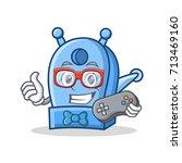 gamer pencil sharpener... | Shutterstock .eps vector #713469160