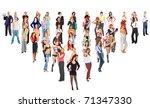 crowd success levels | Shutterstock . vector #71347330