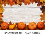 Autumn Leaves And Pumpkins Ove...