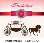 invitation card with carriage   ... | Shutterstock .eps vector #71348272