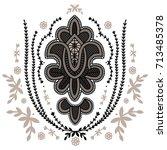 ornate retro style bollywood... | Shutterstock .eps vector #713485378