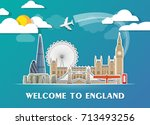 england landmark global travel... | Shutterstock .eps vector #713493256