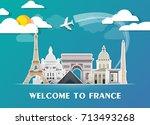 france landmark global travel... | Shutterstock .eps vector #713493268