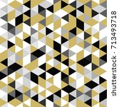 golden seamless pattern of... | Shutterstock .eps vector #713493718