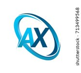 letter ax logotype design for... | Shutterstock .eps vector #713499568