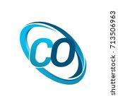 letter co logotype design for... | Shutterstock .eps vector #713506963