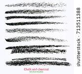 set of vector grunge brushes... | Shutterstock .eps vector #713511388