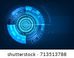 abstract futuristic circuit... | Shutterstock .eps vector #713513788
