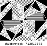 vector seamless pattern.... | Shutterstock .eps vector #713513893