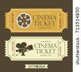 design vintage movie tickets.... | Shutterstock .eps vector #713514850
