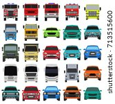 transport icons | Shutterstock .eps vector #713515600