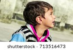 portrait of a gorgeous little... | Shutterstock . vector #713516473