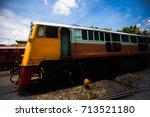 diesel locomotive | Shutterstock . vector #713521180