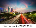 modern urban landscape in the... | Shutterstock . vector #713527516