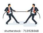 tug concept. two businessmen in ...   Shutterstock .eps vector #713528368