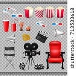 big set of collection elements... | Shutterstock .eps vector #713533618
