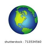 earth cartoon   | Shutterstock .eps vector #713534560