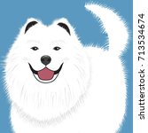 dog samoyed  buddy puppy vector ... | Shutterstock .eps vector #713534674