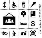 pictogram icon. set of 13...