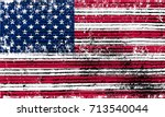grunge usa flag.vintage flag of ... | Shutterstock .eps vector #713540044