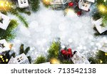 christmas holiday background  | Shutterstock . vector #713542138