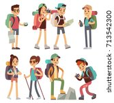 tourists people characters for... | Shutterstock .eps vector #713542300